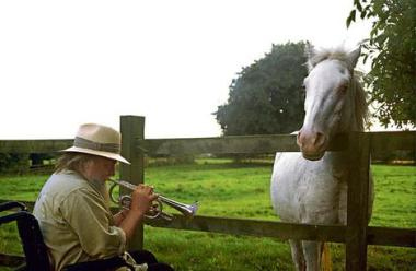 Robert Wyatt y caballo